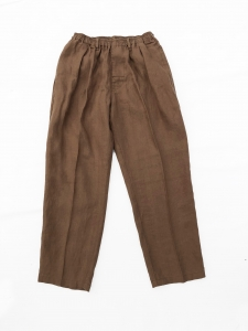 COMFORTABLE REASON 「 Linen Daily Slacks / Brown 」