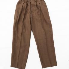 COMFORTABLE REASON 「 Linen Daily Slacks / Brown 」