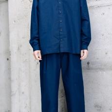 AUGUSTE-PRESENTATION PajamaLook 「 ダンガリースタンドカラーシャツ / INDIGO 」