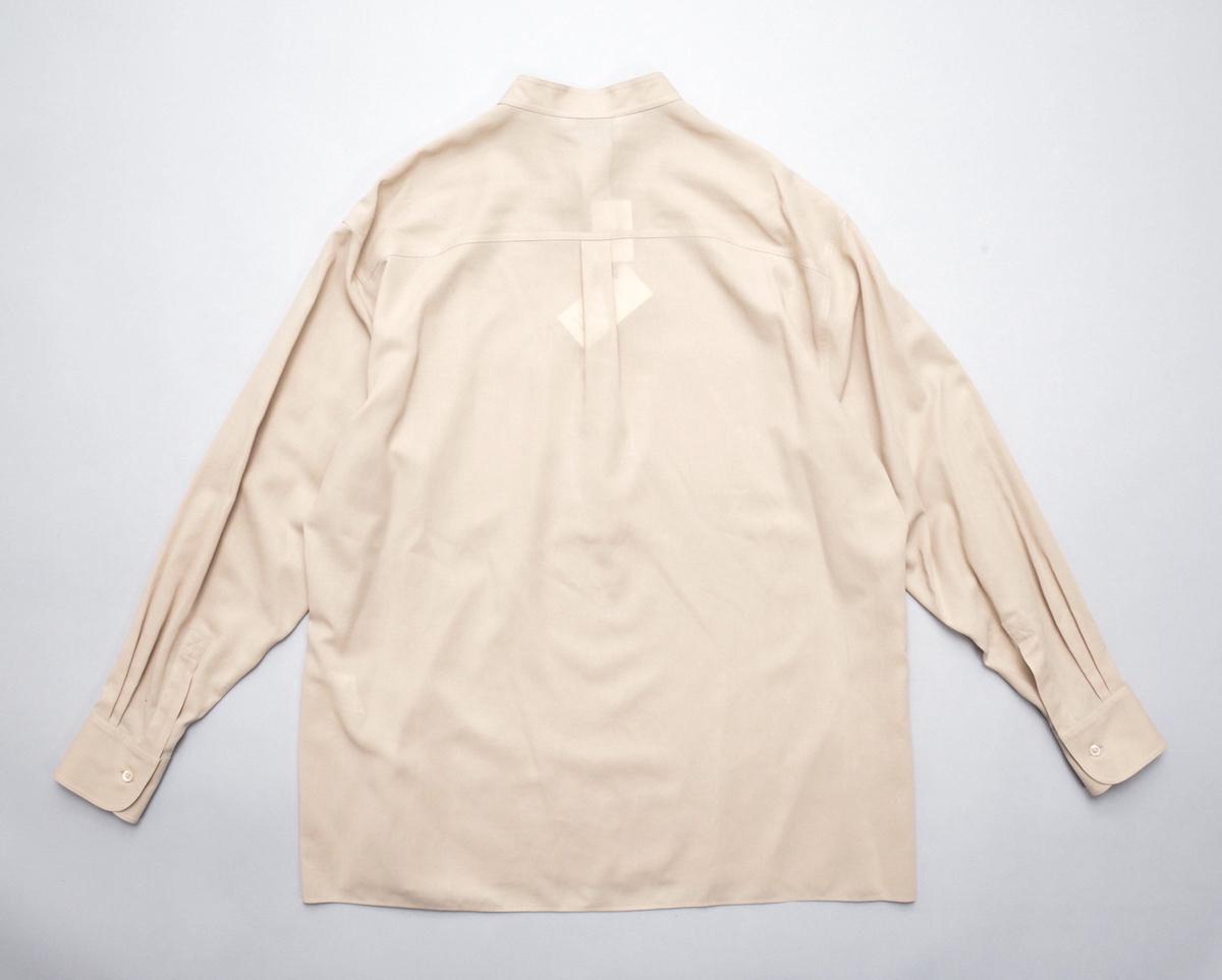 AURALEE 「 SHUTTLE GEORGETTE CLOTH P/O SHIRTS / LIGHT BEIGE 」