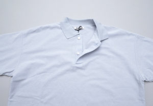 AURALEE 「 HARD TWIST AMUNZEN DOUBLE CLOTH POLO / LIGHT BLUE 」--06