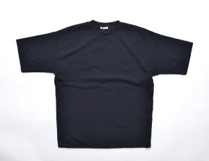 AURALEE 「 HARD TWIST AMUNZEN DOUBLE CLOTH TEE / BLACK 」--01