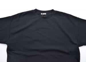 AURALEE 「 HARD TWIST AMUNZEN DOUBLE CLOTH TEE / BLACK 」--06