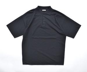 AURALEE 「 HARD TWIST AMUNZEN DOUBLE CLOTH POLO / BLACK 」--02