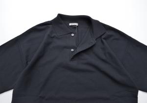 AURALEE 「 HARD TWIST AMUNZEN DOUBLE CLOTH POLO / BLACK 」--07