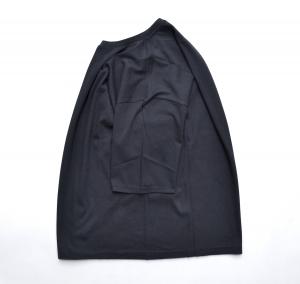 AURALEE「 SEAMLESS CREW NECK HALF SLEEVED TEE / BLACK 」--04