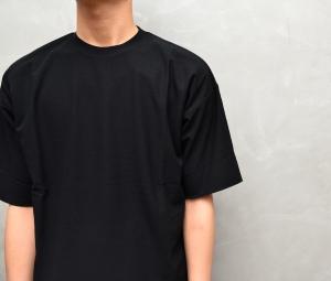 AURALEE 「 HARD TWIST AMUNZEN DOUBLE CLOTH TEE / BLACK 」--11
