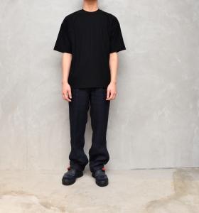 AURALEE 「 HARD TWIST AMUNZEN DOUBLE CLOTH TEE / BLACK 」--02