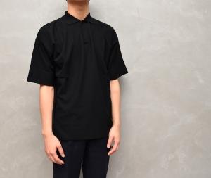 AURALEE 「 HARD TWIST AMUNZEN DOUBLE CLOTH POLO / BLACK 」--10