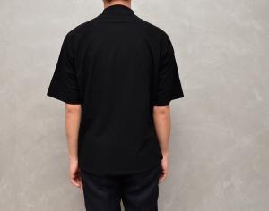 AURALEE 「 HARD TWIST AMUNZEN DOUBLE CLOTH POLO / BLACK 」--11