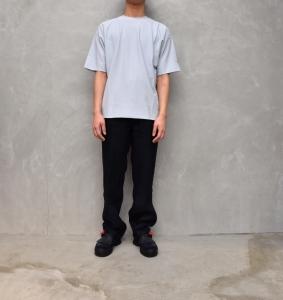 AURALEE 「 HARD TWIST AMUNZEN DOUBLE CLOTH TEE / LIGHT BLUE 」--01