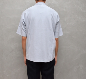 AURALEE 「 HARD TWIST AMUNZEN DOUBLE CLOTH POLO / LIGHT BLUE 」--11