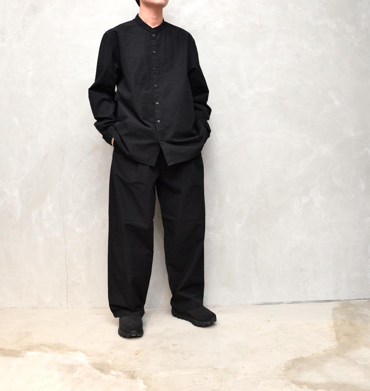AUGUSTE-PRESENTATION PajamaLook 「 ダンガリースタンドカラーシャツ / BLACK 」