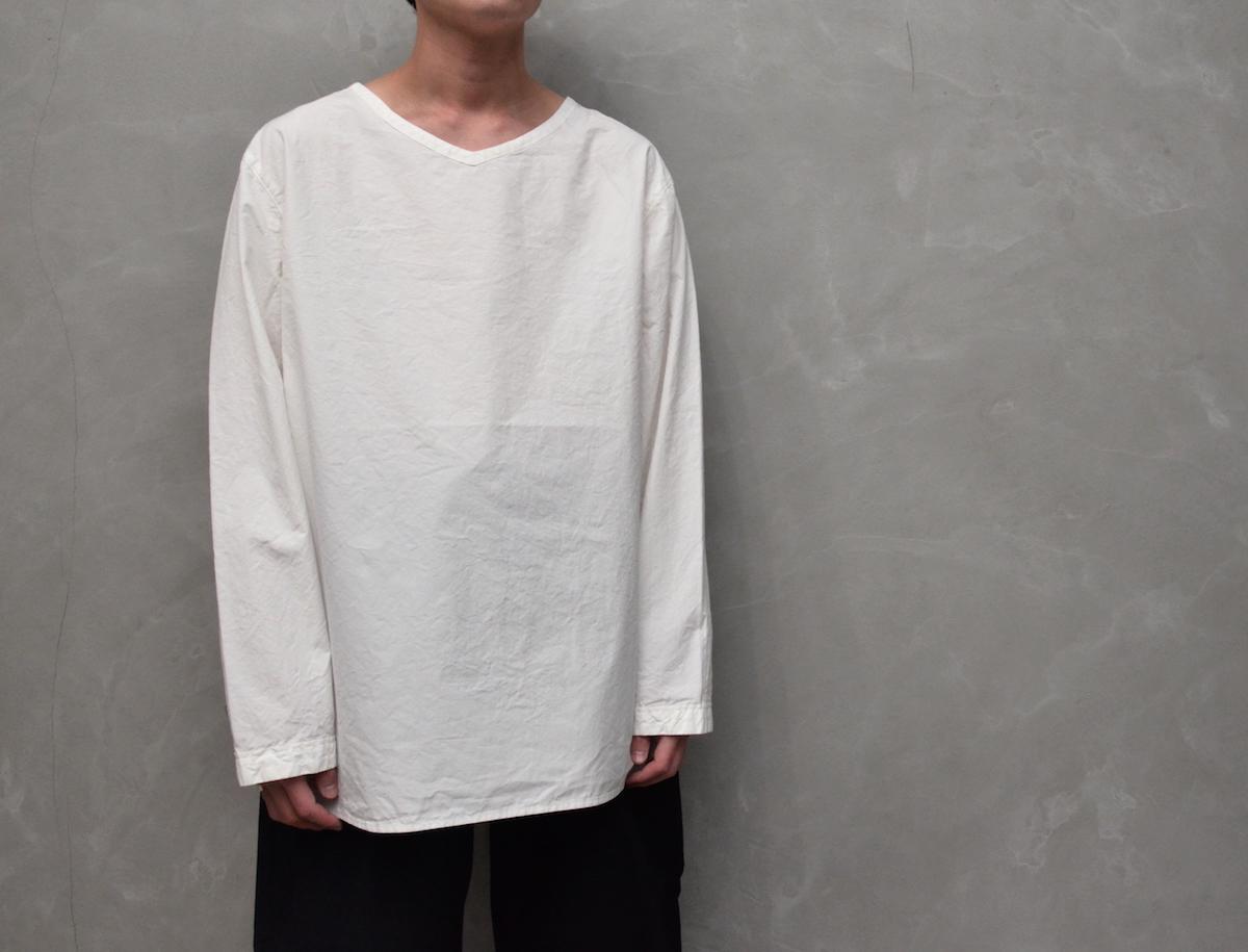 AUGUSTE-PRESENTATION PajamaLook 「 ダンガリー長袖プルオーバー / WHITE 」