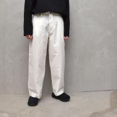 AUGUSTE-PRESENTATION PajamaLook 「 ダンガリーワンタックワイドパンツ / WHITE 」