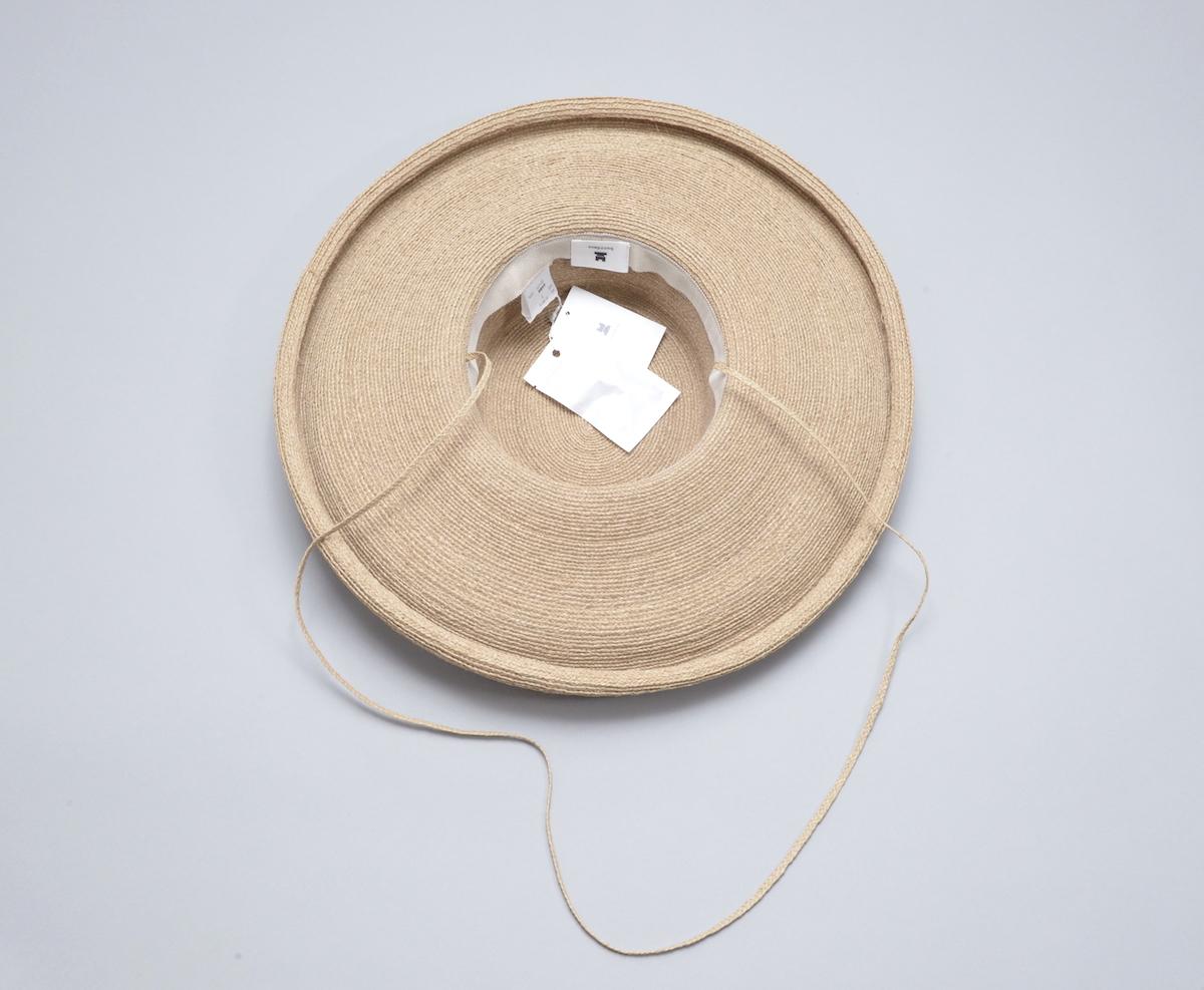 凹凸 -bocodeco- 「 Raffia Braid Roll-Up Brim Hat / BEG 」