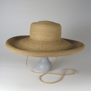 凹凸 -bocodeco- 「 Raffia Braid Roll-Up Brim Hat / BEG 」