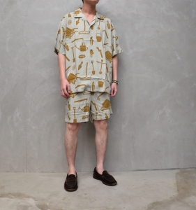 BROWN by 2-tacs「 ALOHA SHORTS / GRAY 」--02