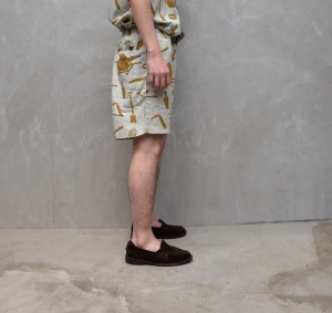 BROWN by 2-tacs「 ALOHA SHORTS / GRAY 」--11