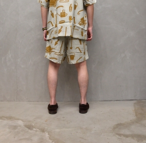 BROWN by 2-tacs「 ALOHA SHORTS / GRAY 」--12