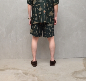 BROWN by 2-tacs「 ALOHA SHORTS / DARK GREEN 」--10