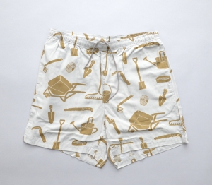 BROWN by 2-tacs「 ALOHA SHORTS / GRAY 」--04