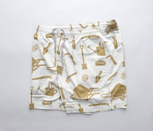 BROWN by 2-tacs「 ALOHA SHORTS / GRAY 」