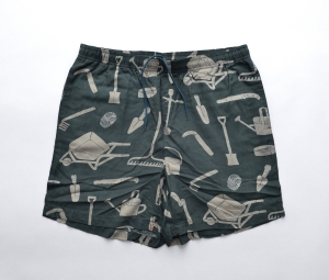 BROWN by 2-tacs「 ALOHA SHORTS / DARK GREEN 」--03