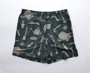 BROWN by 2-tacs「 ALOHA SHORTS / DARK GREEN 」--05