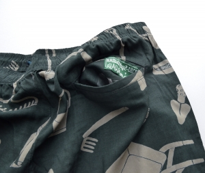 BROWN by 2-tacs「 ALOHA SHORTS / DARK GREEN 」--07