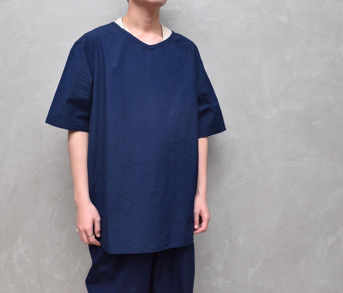 AUGUSTE-PRESENTATION PajamaLook 「 ダンガリー半袖プルオーバー / INDIGO 」