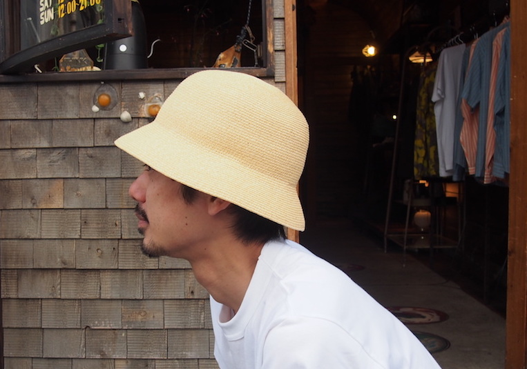 BROWN by 2-tacs「 DOWN BRIM HAT / NATURAL 」