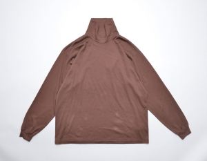 AURALEE 「 LUSTER PLATING HI NECK L/S TEE -  BROWN 」
