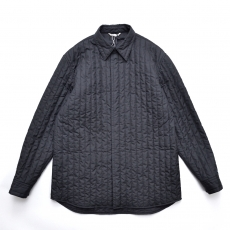 AURALEE 「 SUVIN HIGH COUNT CLOTH QUILTING SHIRTS - BLACK 」