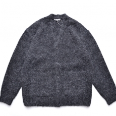 AURALEE 「 ALPACA WOOL SUPER LIGHT KNIT BIG CARDIGAN -  TOP CHARCOAL 」