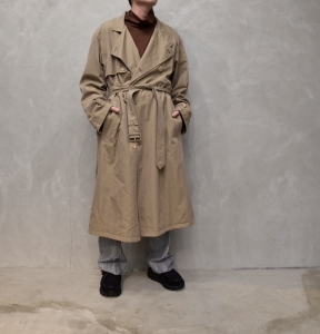 AURALEE 「 WASHED FINX CUPRO TWILL LONG COAT 」