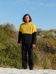 MAN-TLE「 HAND KNIT - YELLOW/BLACK 2 」