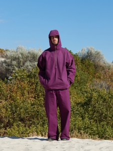 MAN-TLE 「 R9 - HOOD PULL OVER SHIRT / PURPLE CORAL 」