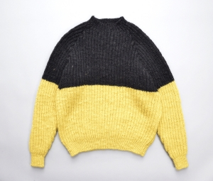 MAN-TLE「 HAND KNIT - YELLOW/BLACK 1 」