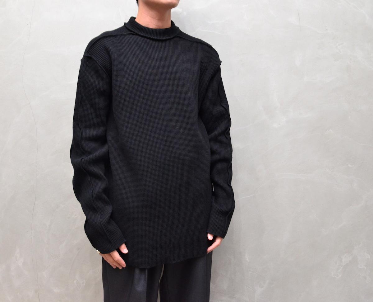 MAN-TLE 「 R9 - WAFFLE T-SHIRT / BLACK 」