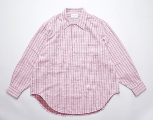 Marvine Pontiak shirt makers 「 Cover All / Cherry × Gray CH 」