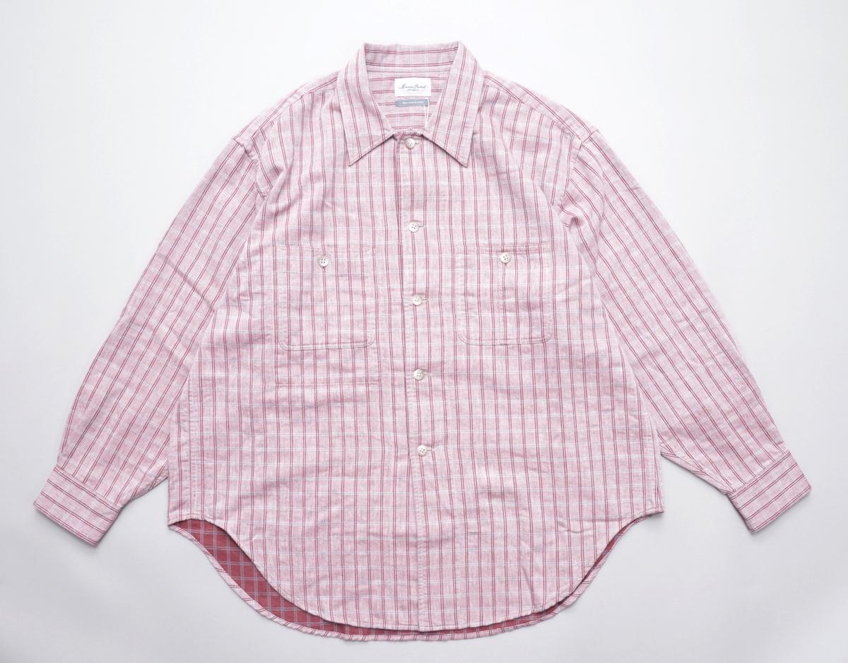 Marvine Pontiak shirt makers 「 Cover All / Cherry × Gray CH 」
