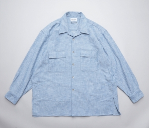 Marvine Pontiak shirt makers 「 Open Collar SH / Blue Kersey 」