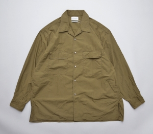 Marvine Pontiak shirt makers 「 Open Collar SH / Khaki 」