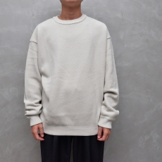 crepuscule 「 moss stitch L/S sweat / White 」