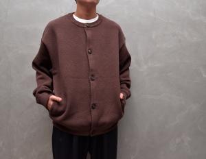 crepuscule 「 moss stitch crew cardigan / Brown 」