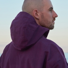 MAN-TLE 「 R9 - HOOD PULL OVER SHIRT / PURPLE CORAL 」--03