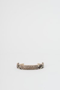 Hender Scheme 「python brass bangle S / natural python」