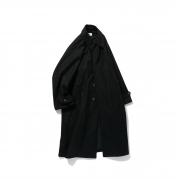 POLYPLOID「LONG COAT TYPE-C / BLACK MELANGE 」
