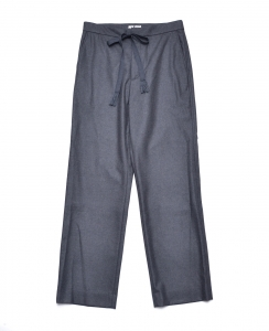 AURALEE 「 WOOL FULLING FLANNEL SLACKS / TOP CHARCOAL 」